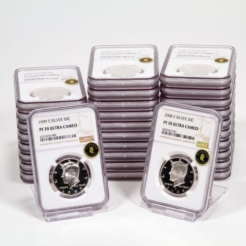 3 Sets of 10: 1999-S - 2008-S Silver Statehood Kennedy Half Dollars NGC PF70UCAM EVEREST includes free signed Hard Cover Franklin and Kennedy Book