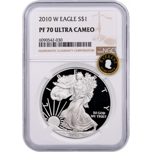 2010-W American Silver Eagle NGC PF70UCAM Everest