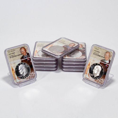 Set of 11: 1971-S - 1976-S Eisenhower Dollars NGC PF69 Cameo I Like Ike Label