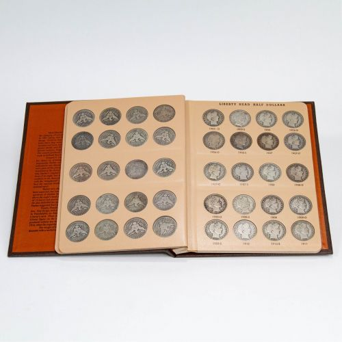 Set of 73: 1892 - 1915 Complete Barber Half Dollar Set G-XF with Free Red Book