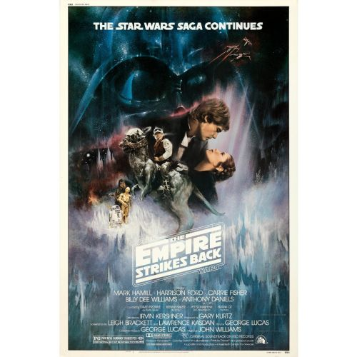 """""""The Empire Strikes Back"""" 1980 Style A Rolled Movie Poster Very Fine+"""
