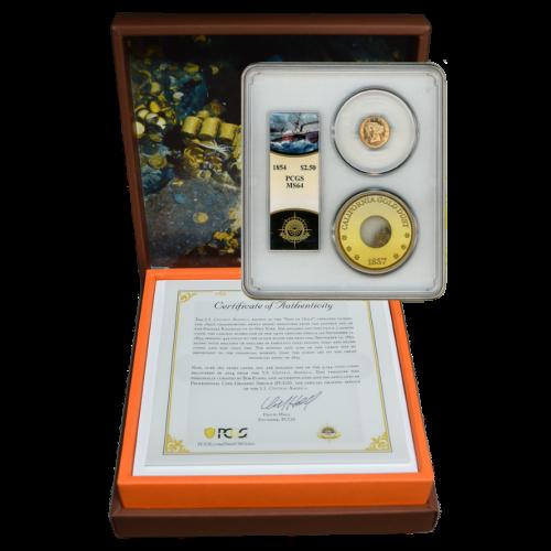 1854-P SSCA Liberty Head Gold Quarter Eagle MS64