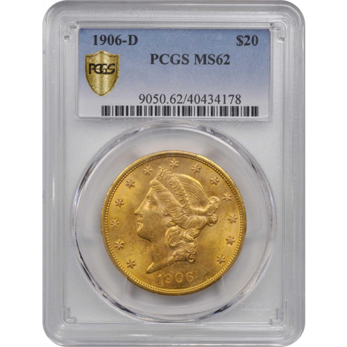 1906-D Liberty Head Gold Double Eagle MS62
