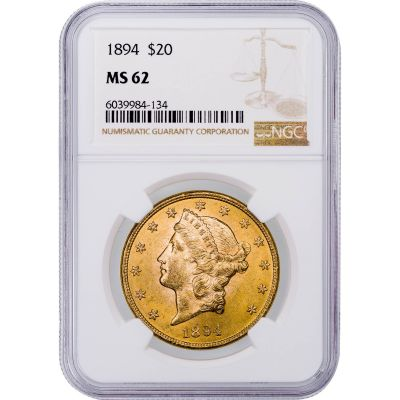 1894-P Liberty Head Gold Double Eagle MS62