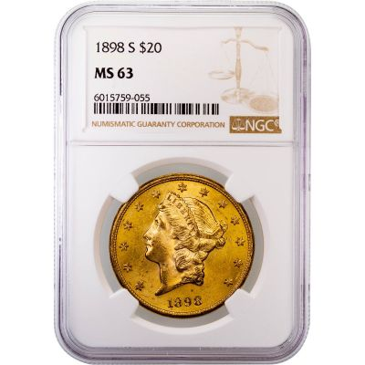 1898-S Liberty Head Gold Double Eagle MS63