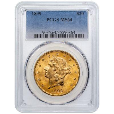 1899-P Liberty Head $20 Gold Double Eagle MS64