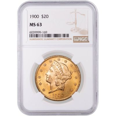 1900-P Liberty Head Gold Double Eagle MS63