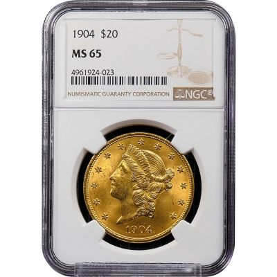1904-P Liberty Head Gold Double Eagle MS65