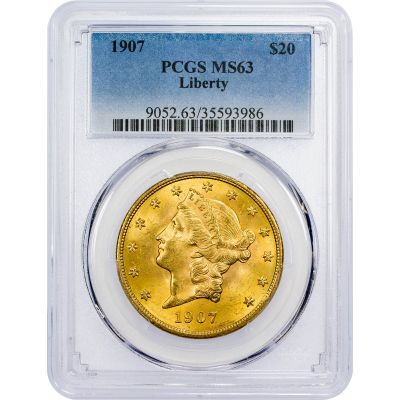 1907-P Liberty Head Gold Double Eagle MS63
