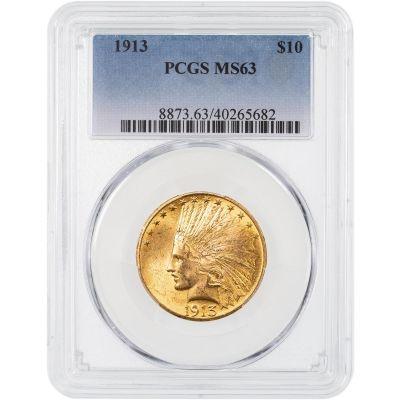 1913-P Indian Head Gold Eagle MS63