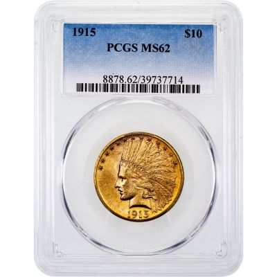 1915-P Indian Head Gold Eagle MS62