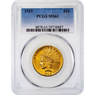 1915-P Indian Head Gold Eagle MS63