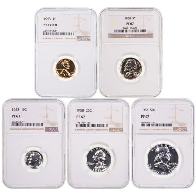 1958 Year Set NGC PF67