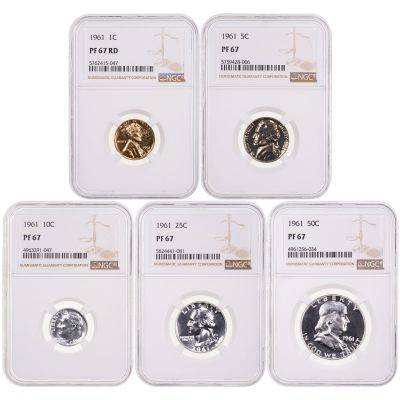 1961 Year Set NGC PF67