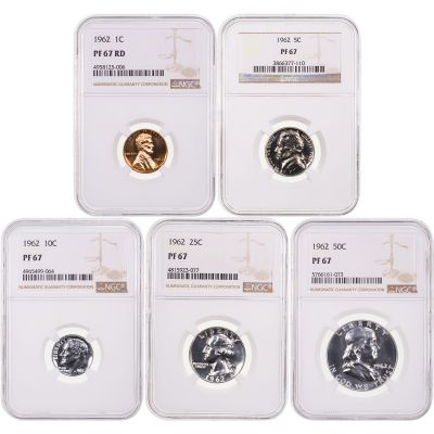 1962 Year Set NGC PF67