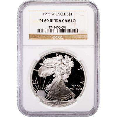 1995-W American Silver Eagle PF69 Ultra Cameo