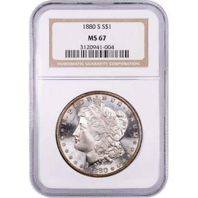 1880-S Morgan Dollar MS67