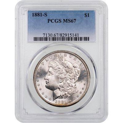 1881-S Morgan Dollar MS67