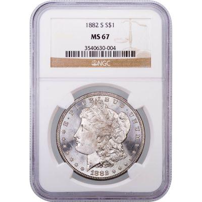 1882-S Morgan Dollar MS67