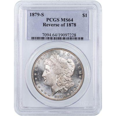 1879-S Rev. of 1878 Morgan Dollar NGC/PCGS MS64