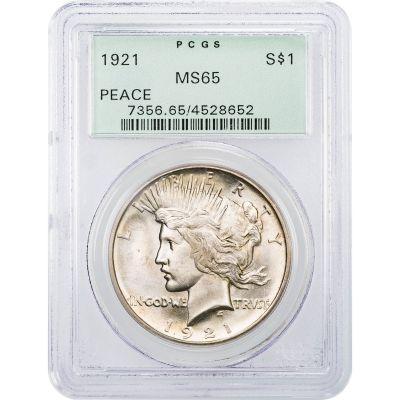 1921 Peace Dollar NGC MS65