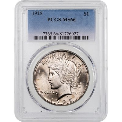 1925-P Peace Dollar MS66