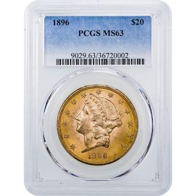 1896-P Liberty Head Gold Double Eagle MS63