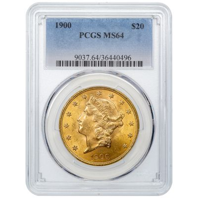 1900-P Liberty Head $20 Gold Double Eagle MS64
