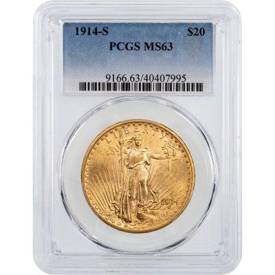 1914-S Saint-Gaudens Gold Double Eagle MS63