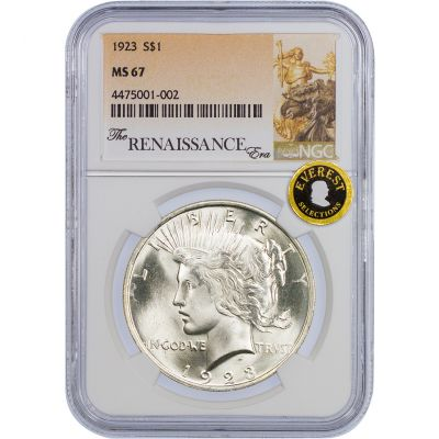 1923-P Peace Dollar MS67
