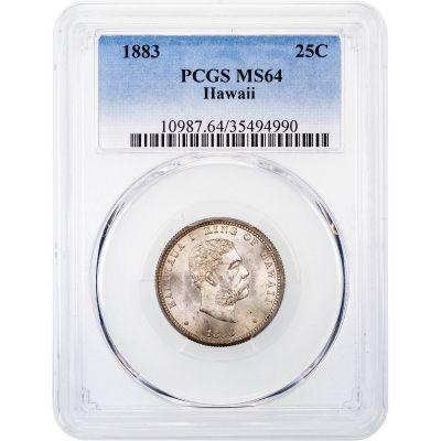 1883 Hawaii Quarter PCGS MS64