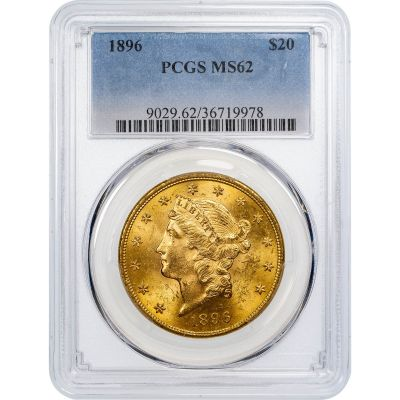 1896-P Liberty Head Gold Double Eagle MS62