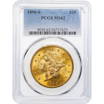 1896-S Liberty Head Gold Double Eagle MS62