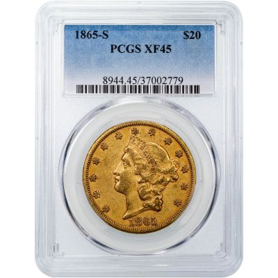 1865-S Liberty Head Gold Double Eagle PCGS XF45