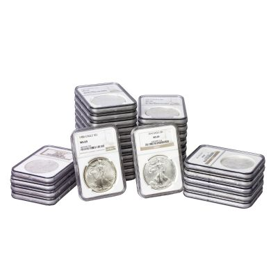 Set of 31: 1986-2016 American Silver Eagle NGC MS69
