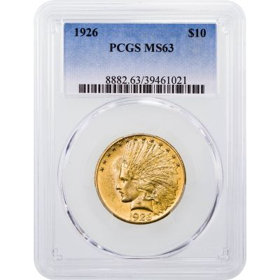 1926-P Indian Head $10 Gold Eagle MS63