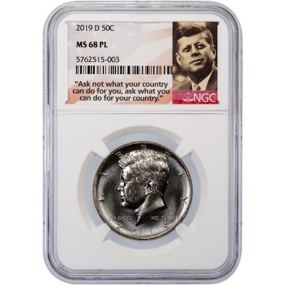 2019-D Kennedy Half Dollar MS68 PL