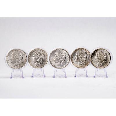 Set of 5: Great American Morgan Silver Dollar Collection BU