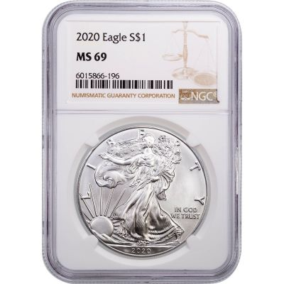 2020 American Silver Eagle NGC MS69