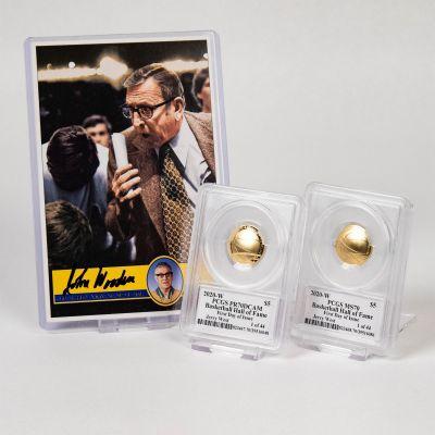 Set of 2: 2020-W Jerry West Basketball Commemorative Gold Five Dollar Piece PR70 DCAM & MS70