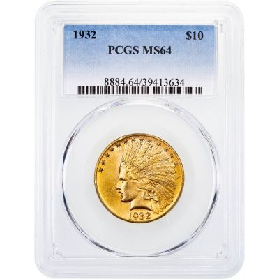 1932-P Indian Head Gold Eagle MS64