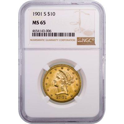 1901-S Liberty Head Gold Eagle MS65