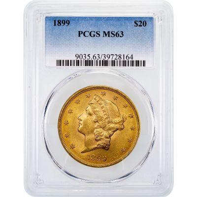 1899-P Liberty Head Gold Double Eagle MS63