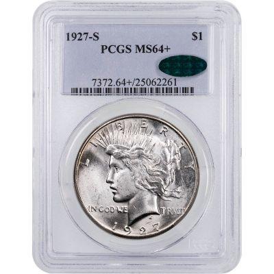 1927-S Peace Dollar PCGS MS64+ CAC