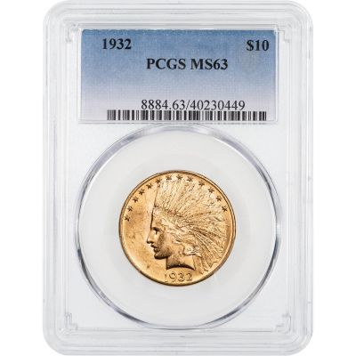 1932-P Indian Head Gold Eagle PCGS MS63