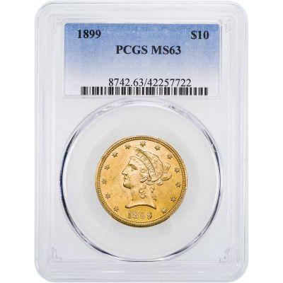 1899-P Liberty Head $10 Gold Eagle NGC/PCGS MS63