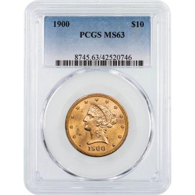 1900-P Liberty Head Gold Eagle NGC/PCGS MS63