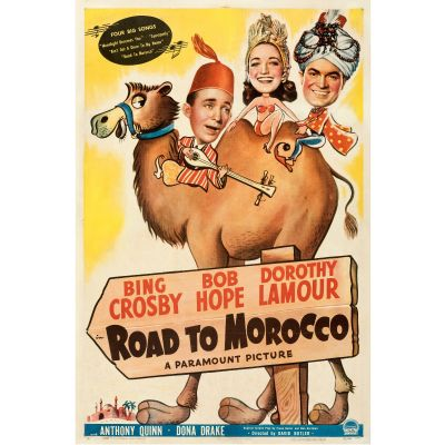 """Paramount, """"Road to Morocco"""" 1942 One Sheet on Linen, Fine/Very Fine, Unframed, 27 x 41"""