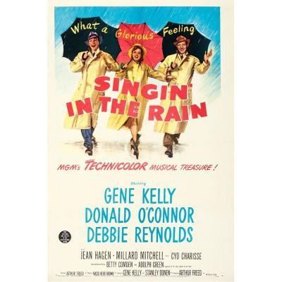 """MGM, """"Singin' in the Rain"""" 1952 One Sheet on Linen, Fine/Very Fine, Unframed, 27 x 41"""