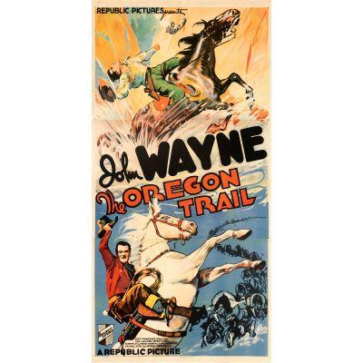 "Republic Studios, ""The Oregon Trail"" 1936 Rolled Three Sheet, Fine+, Unframed, 39.5 x 80"